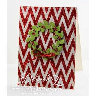 Spellbinders und Rayher Punzonatura e goffratura stencil Il D-Lites, Corona di Natale