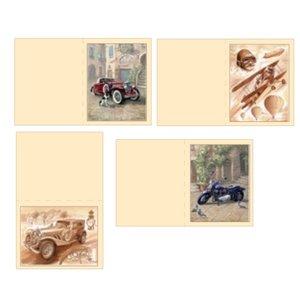 Dekoration Schachtel Gestalten / Boxe ... Kits, 3D udstanset ark til 4 mænd kort: vintage, biplan, Motorcykel +4 billetter dobbelt!