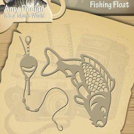 AMY DESIGN AMY DESIGN, Stamping og Embossing stencil, Det er en Mans World - Fishing Float