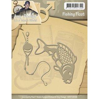 AMY DESIGN AMY DESIGN, Stampen en Embossing stencil, Het is een Mans World - Vissen Float