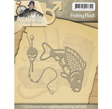 AMY DESIGN AMY DESIGN, Stamping og Embossing stencil, Det er en Mans World - Fishing Float
