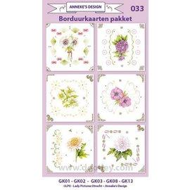 KARTEN und Zubehör / Cards Pegue Kits de tarjetas, para el diseño de 6 tarjetas