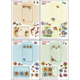 KARTEN und Zubehör / Cards Bastelset om utforming av Twin-Set Cards