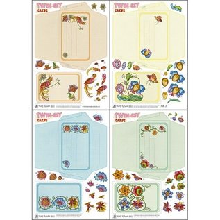 KARTEN und Zubehör / Cards Bastelset mbt de inrichting van Twin-Set Kaarten