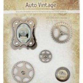 Embellishments / Verzierungen Charms in metallo Set di auto d'epoca, 5 parti