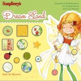 Embellishments / Verzierungen Sæt med Brads 15 stykker, Dreamland