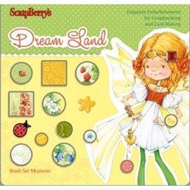 Embellishments / Verzierungen Sett av Brads 15 stykker, Dreamland
