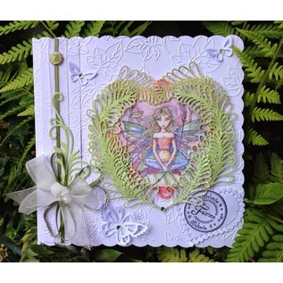 CREATIVE EXPRESSIONS und COUTURE CREATIONS Stamping and Embossing stencil, metal stencil 3 Ferns