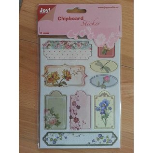 Joy!Crafts / Jeanine´s Art, Hobby Solutions Dies /  10 Chipboards Sticker, 2mm dick