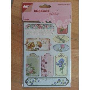 Joy!Crafts / Jeanine´s Art, Hobby Solutions Dies /  10 spaanplaat stickers, 2mm dik