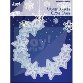Joy!Crafts / Jeanine´s Art, Hobby Solutions Dies /  Estampage et Pochoir gaufrage, cercle d'étoiles