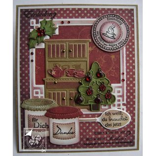 Joy!Crafts / Jeanine´s Art, Hobby Solutions Dies /  Stempelen en embossing stencil, 3 kerstbomen