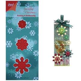 Joy!Crafts / Jeanine´s Art, Hobby Solutions Dies /  Stampaggio e goffratura stencil, 3 cristalli di ghiaccio