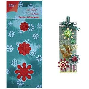 Joy!Crafts / Jeanine´s Art, Hobby Solutions Dies /  Stempelen en embossing stencil, 3 ijskristallen