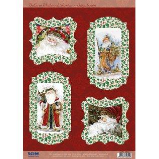 BASTELSETS / CRAFT KITS Bastelset voor 4 Kerstkaarten
