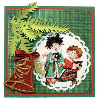 Marianne Design Stamping and embossing stencil, 2 Christmas balls