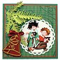 Marianne Design Stempelen en embossing stencil, 2 kerstballen