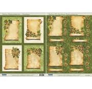 BILDER / PICTURES: Studio Light, Staf Wesenbeek, Willem Haenraets 2 Deluxe Stanzbogen: Hintergrund Bilder mit goldenen Rahmen + 3D Stanzbogen