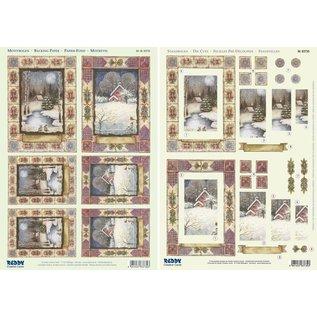 "BASTELSETS / CRAFT KITS 2 Deluxe Die cut sheets: 3D Stanzbogenset ""Christmas landscapes"""