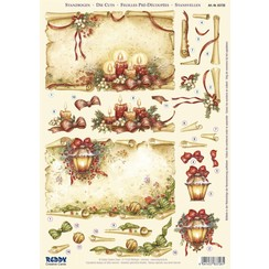 1 Deluxe Die cut sheets: 3D Die cut sheets, rolls of parchment with candles & Lantern