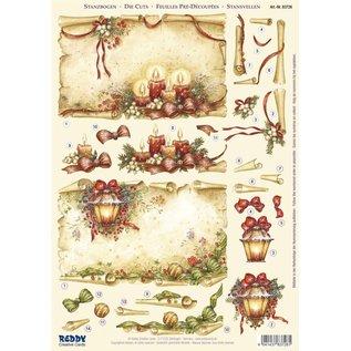 Bilder, 3D Bilder und ausgestanzte Teile usw... 1 Deluxe Die cut sheets: 3D Die cut sheets, rolls of parchment with candles & Lantern
