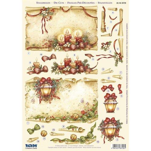 BILDER / PICTURES: Studio Light, Staf Wesenbeek, Willem Haenraets 1 Deluxe feuilles decoupees: feuilles 3D Die coupées, rouleaux de parchemin avec des bougies et des lanternes
