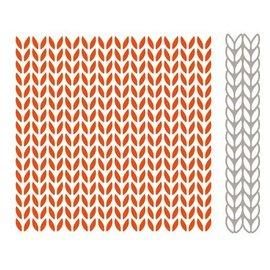 Marianne Design Carpeta de Repujado + estampado a juego y cliché de estampado, patrones que hacen punto
