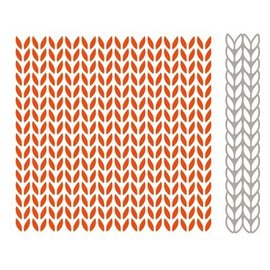 Marianne Design Embossing Folder + bijpassende stempelen en embossing stencil, breipatronen
