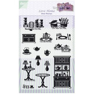 Joy!Crafts / Jeanine´s Art, Hobby Solutions Dies /  Transparente Stempel, Joy, Love Home