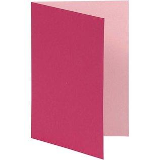 KARTEN und Zubehör / Cards Notitiekaarten, maat 10,5x15 cm, roze / roze, 10 stuks