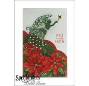 Spellbinders und Rayher Stempelen en embossing stencil, engel met vogel