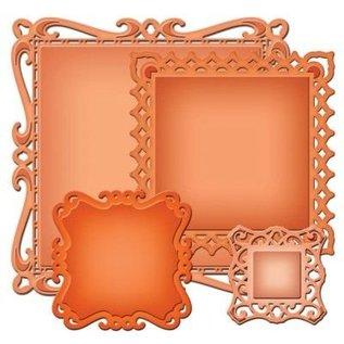 Spellbinders und Rayher Spellbinders stempelen en embossing stencil, Spellbinders nestabilities, decoratieve sierlijst