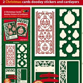 Bastelset mit Karten Layouts und geprägte Sticker