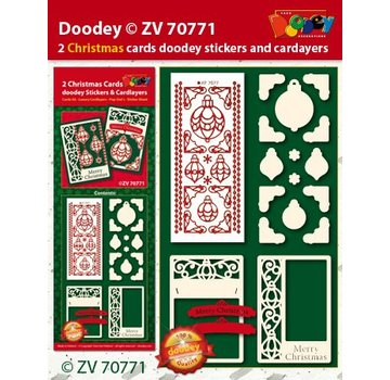 Bastelset with card layouts and embossed sticker