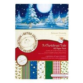 Forever Friends Designersblock, A5, paquete de papel Foiled, Un cuento de Navidad