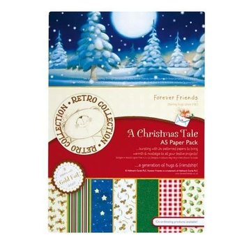 Forever Friends Designer Block, A5, Foiled Paper Pack, A Christmas Tale