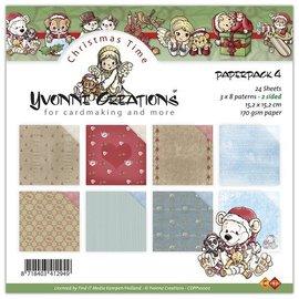 Yvonne Creations pretty designer block, 15x15cm, Christmas