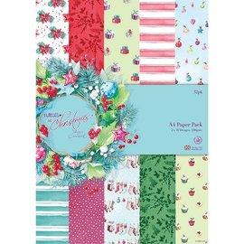 Karten und Scrapbooking Papier, Papier blöcke Designersblock, A4 Paper Pack, Ved juletid Lucy Cromwell