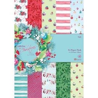 Karten und Scrapbooking Papier, Papier blöcke Designersblock, A4 Paper Pack, bij Kerstmis Lucy Cromwell