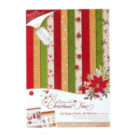 Karten und Scrapbooking Papier, Papier blöcke Designersblock, A4 Paper Pack, At Christmastime