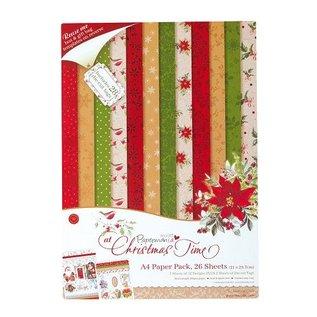 Karten und Scrapbooking Papier, Papier blöcke Designersblock, A4 Paper Pack, in de kersttijd