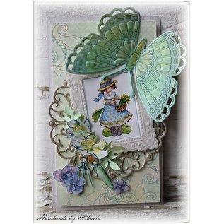Marianne Design ponsen en embossing sjabloon + stempel: vlinders