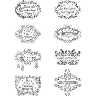 Marianne Design Clear Stamps, kerst motieven Labels NL teksten