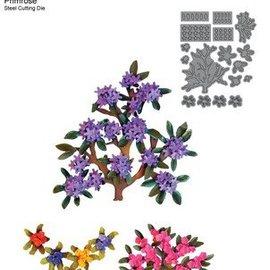 Elisabeth Craft Dies , By Lene, Lawn Fawn Stampen en Embossing stencil, Elizabeth Craft Design takken en mini bloemen