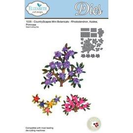 Elisabeth Craft Dies , By Lene, Lawn Fawn Estampación y de la plantilla de grabación en relieve, ramas Elizabeth Craft Diseño y mini flores