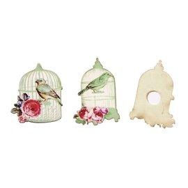 Embellishments / Verzierungen Finitions, Birdcage 4,5-5cm, bois