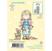 Leane Creatief - Lea'bilities und By Lene Transparent stamp, Garden girl