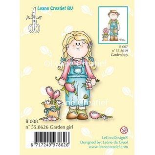 Leane Creatief - Lea'bilities und By Lene Transparant stempel, Tuin meisje