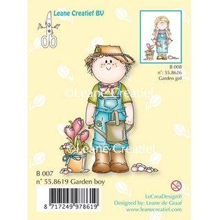 Leane Creatief - Lea'bilities und By Lene Transparant stempel, Tuin jongen