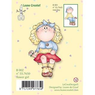 Leane Creatief - Lea'bilities und By Lene Transparante stempels, flowergirl